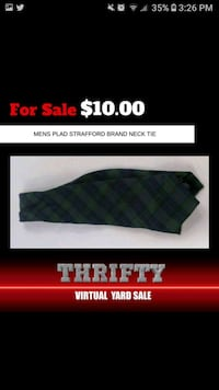 Strafford plad mens tie Ellicott City, 21043