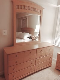 Dresser with attachable mirror and Night Stand Arlington, 22204