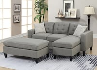 No credit needed light gray reversible compact sectional with ottoman College Park
