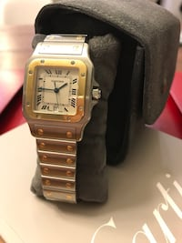 Cartier 18k Gold & Stainless Steel Watch Helotes, 78023
