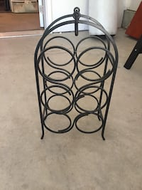 black wrought iron bottle rack Concord, 03301
