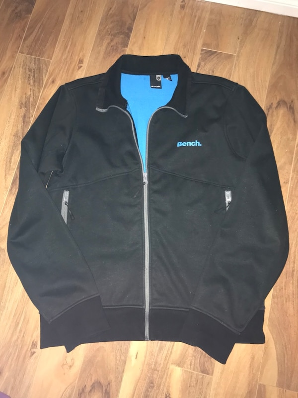 Men's Bench Jacket (Black/Blue) XL