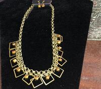 Bronze lil squares necklace w/ earrings Pico Rivera, 90660