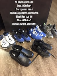 Gently used boy shoes