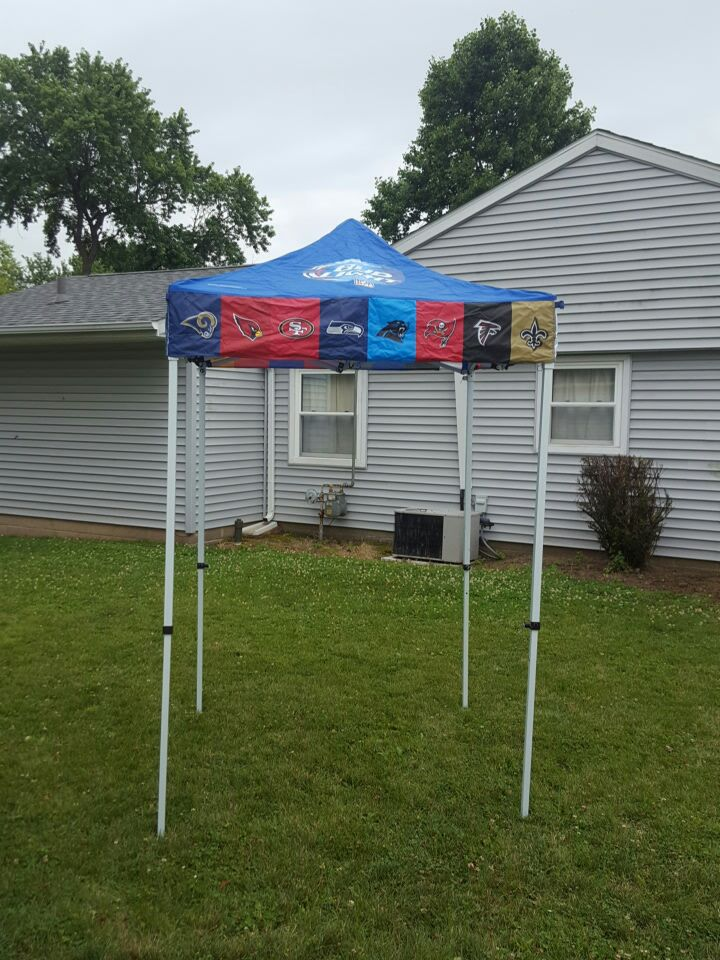 MORE INFO & Used Official Bud Light NFL Canopy in Lafayette