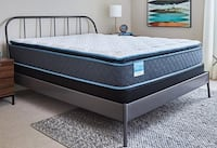 NEW - Queen Mattress, Box, and Metal Rails ---  3 sets left - first come, first serve San Antonio