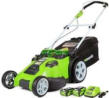 Greenworks 20-Inch 40V Twin Force Cordless Lawn Mower, 4.0 AH