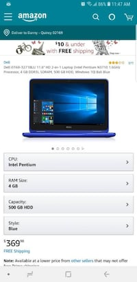 Dell inspiron 11 3000 series 2 in 1 brand new Quincy
