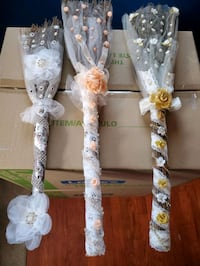 Decorated  Straw Wedding Jumping Broom  Chicago, 60652