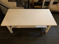 rectangular white wooden coffee table Los Angeles, 90028