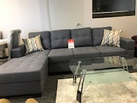 SECTIONAL sectional BRAND NEW gray tufted cushion sectional couch