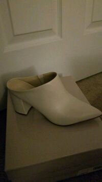Ivory Leather Mules