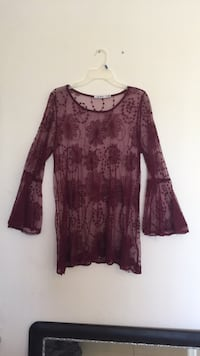 women's maroon floral long-sleeved dress Cutler Bay, 33189