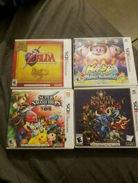 four Nintendo 3DS game cases South Gate, 90280