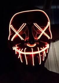 Evil Neon Face Mask Lights Up Red (BRAND NEW) Lowell, 01852
