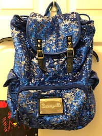 blue and black leather backpack New Market, 21774
