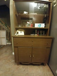 brown wooden cabinet with hutch 732 km