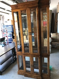 brown display cabinet Pleasant Hill, 94523