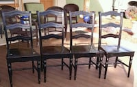 Pier 1 set of 4 black wood dining chairs Clearwater, 33759