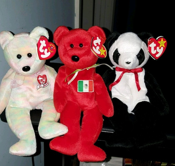 Used three assorted TY Beanie Baby plush toys for sale in Newnan - letgo 97fc05997552