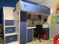 Jysk blue and withe bunk bed Georgetown, L7G 6M3