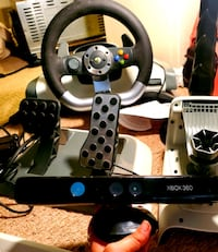 We have a Microsoft Xbox 360 Steering wheel, pedals, cords, , XBox Kin Woodbridge, 22192