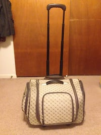 black and brown leather luggage Jefferson, 21755
