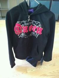 black and red Mickey Mouse pullover hoodie Calgary, T2B 2E4