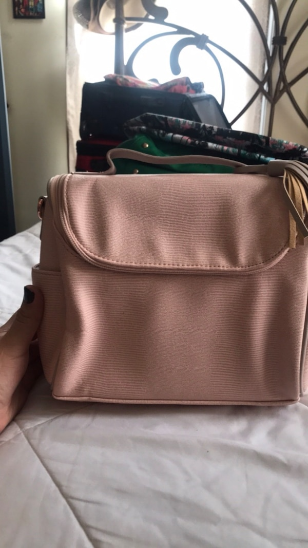 Pink lunch bag w/ accessories