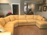 Yellow cloth sectional. No rips or stains. Approximately 1 yr old. Paid 2,400 brand new   Nampa, 83686