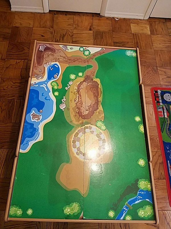 Used Imaginarium Train Table with Drawers and Tracks for sale in New ...