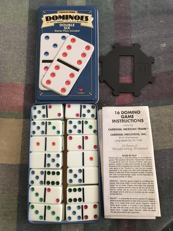 Used Dominoes In Collector Tin For Sale In Douglasville Letgo