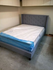 QUEEN bed frame and mattress BRAND NEW with warranty