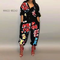 black and red Mickey Mouse print pants Toronto, M3N