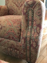 2 upholstered chairs with matching ottoman  Ashburn