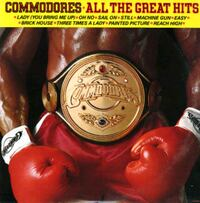 1982 - COMMODORES  - ALL THE GREATEST HITS  Columbia, 21045