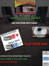 DRYER VENT CLEANING!!!!!! $100 Burke