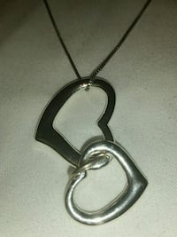 925 SILVER CHAIN WITH DOUBLE HEARTS