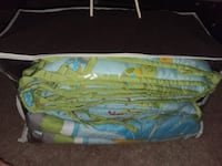 4 piece crib bumper and baby quilt  Windham