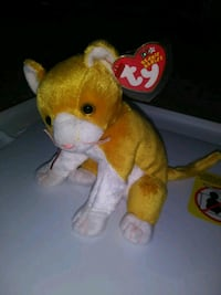 yellow and white TY Beanie Baby bear plush toy Citrus Heights, 95610