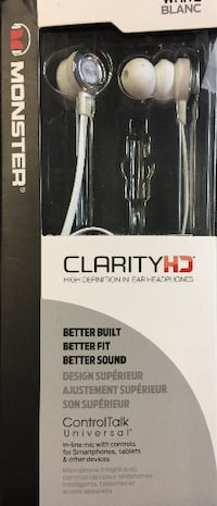 MONSTER CLARITY HD WHITE EARPHONES Montreal East