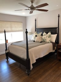 Queen Solid Wood 4 poster bed frame, Haverty's Furniture Houston, 77018