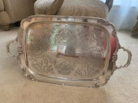 Large Silver Plate Tray Burke, 22015