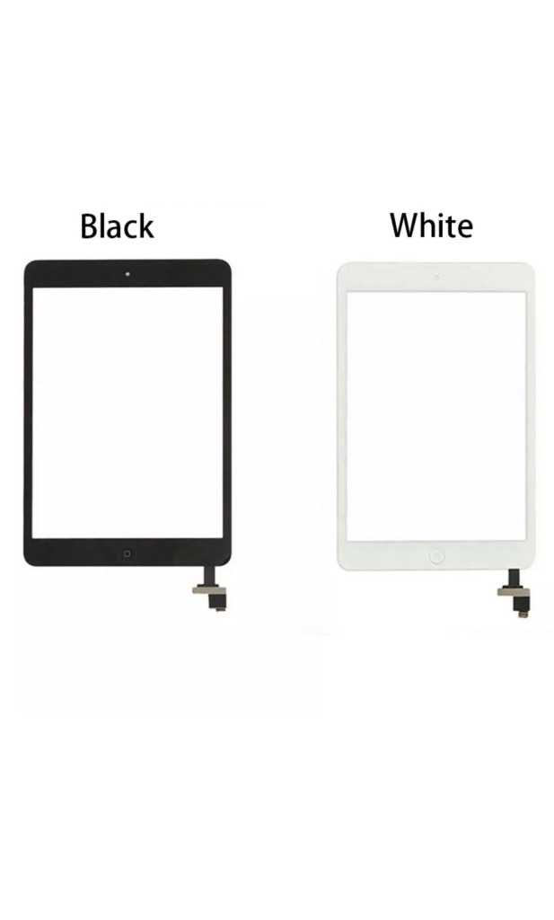 Black Color Home Button with Touch Screen Glass Digitizer for iPad 2 US