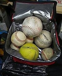 white and red baseball lot 1465 mi