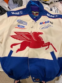 Jeremy Mayfield Mobil 1 racing jacket.  Mint condition