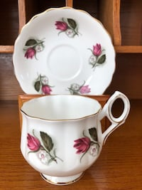 FREE WITH PURCHASE Vintage Sandringham Tea Cup and Saucer Ajax, L1Z 1C9