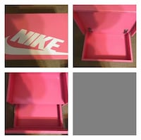 pink and white wooden Nike box Franklin, 08328
