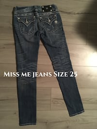 size 25 blue Miss Me denim jeans 3453 km
