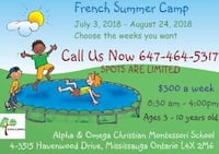 Camp d'été en français...French Summer Camp Mississauga, L4X 2M9